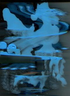 """UNTITLED (BLUE ERASE)"", digital scan, photo paper, sculpture, assemblage, time"