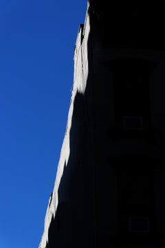 """East Village Abstract #2"", photograph, city, architecture, roof, sky, edge blue"