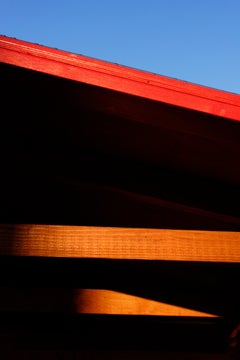 """East Village Abstract #3"", photograph, city, architecture, stripe, orange, edge"