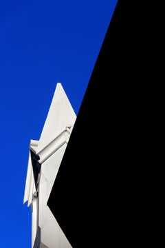 """East Village Abstract #1"", photograph, city, architecture, light, black, blue"