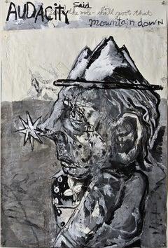 """Starnosed Mole"", acrylic painting, portrait, politics, poetry, humanity, resist"