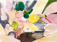 """PLENTY"", watercolor, abstract, ice cream, landscape, patterns, textiles, fruit"