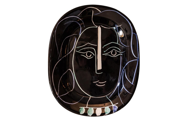 """Pablo Picasso, """"Woman face"""" dish, Ceramic, 1953, France - Art by Pablo Picasso"""