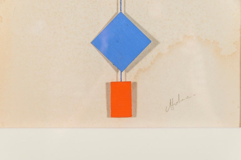 Albert Chubac, Collage, circa 1980, France For Sale 2