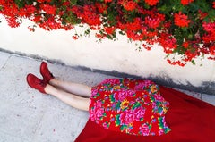 China Girl Photographic Print 16 x 24 in Color Red Fashion Photography