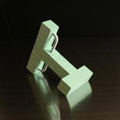 'Study of Apparatus' Original small sculpture maquette architecture green