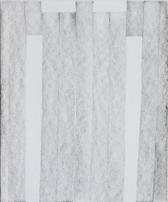 Contemporary work on paper drawing by GJ Kimsunken 'Untitled' black white gray
