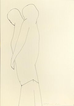 Large Original line drawing 'Untitled' Ink on paper Abstract Figure