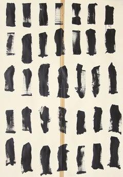 Large Original drawing 'Anatomy of War' Minimal Black and White Lines