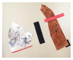 'Untitled 3' Original Contemporary Acrylic, Thread, Sewing Pins on Canvas Large