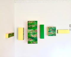 'Magic Color Bursts' Original Contemporary Wall Sculpture Painting Installation