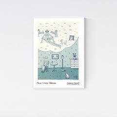 Museum Poster, Till min älskade (To my beloved) Love Romance Interior