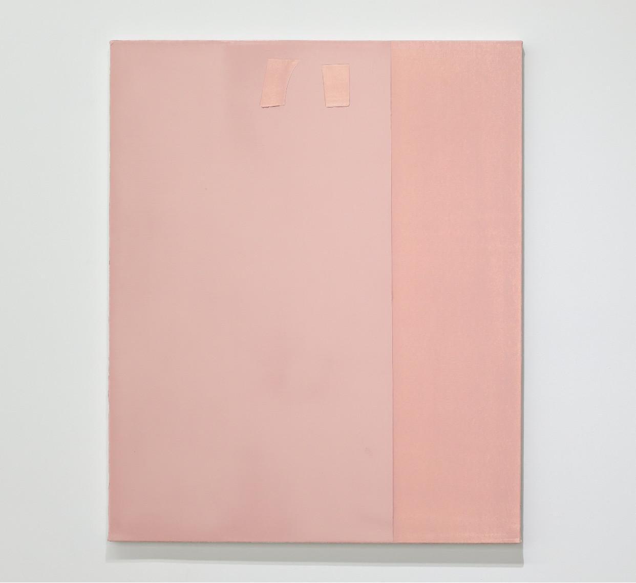 Contemporary minimalist oil painting by GJ Kimsunken 'Figuration 19.19' Pink