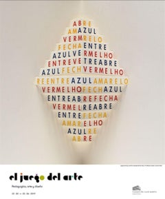Museum Exhibition Poster -  'Poemobiles Sao Paulo' Concrete Abstract Text Poetry