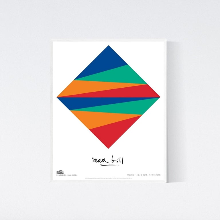 Museum Exhibition Poster -  Unity of equal colors - Bauhaus Geometric Colors - Print by (after) Max Bill