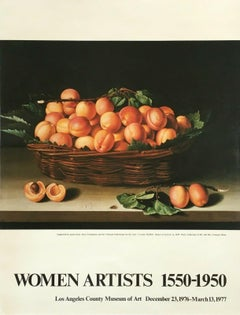 "Vintage Exhibition Poster - Basket of Apricots ""Women Artists 1500-1950"" LACMA"
