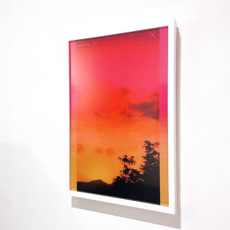 Dusk/Daybreak 1 Framed Color Photography Print  30 x 20 in. Red Orange Sunset For Sale 2