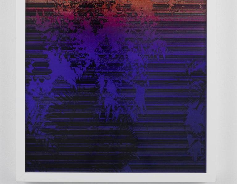 Dusk/Daybreak 3 Framed Color Photography Print  30 x 20 in. Cerulean Fuschia For Sale 1