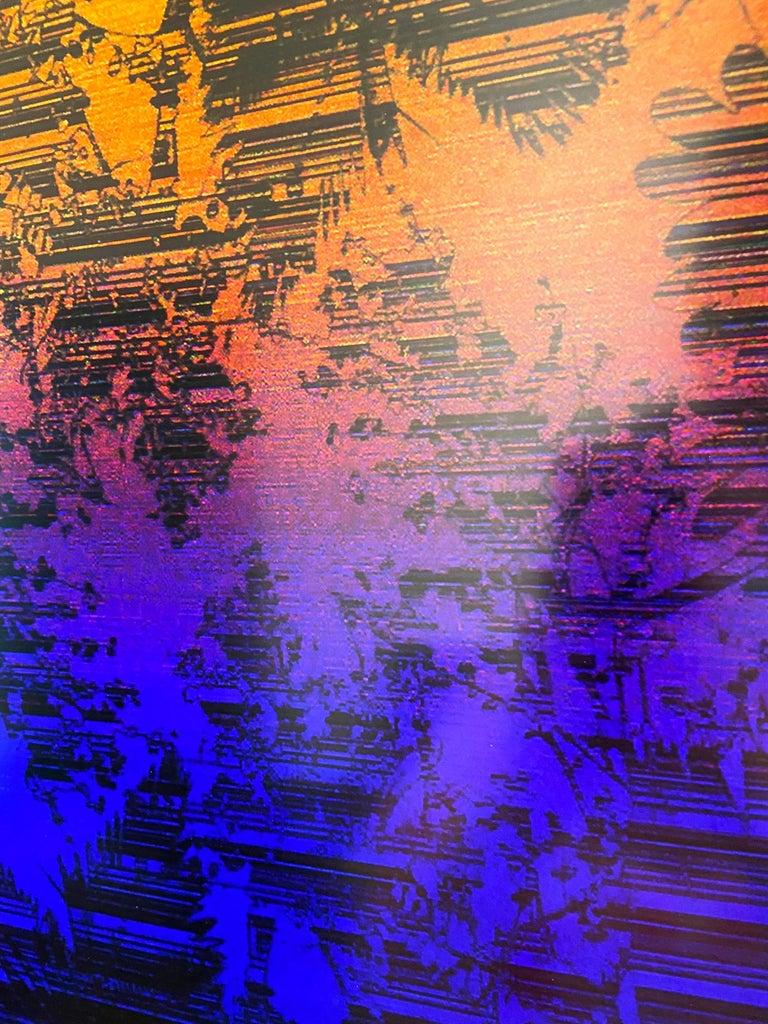 Dusk/Daybreak 3 Framed Color Photography Print  30 x 20 in. Cerulean Fuschia For Sale 2