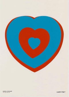 Coeur Volant (Fluttering Heart), Museum Poster Large Oversized Blue Red