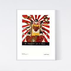 the Revolution will be Female, Museum Poster 19 3/4 x 27 1/2 in 50 x 70 cm Red
