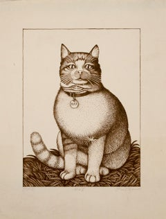 """Max II,"" Illustrated Cat Portrait, Signed Proof Print"