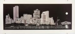 Downtown Manhattan Skyline at Night