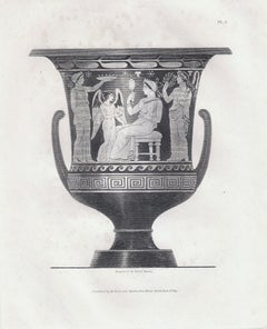 """""""Vases from the Collection of Sir Henry Englefield"""" Antique Print, Ancient Vase"""