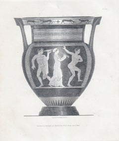 """""""Vases from the Collection of Sir Henry Englefield,"""" Antique Print, Ancient Vase"""
