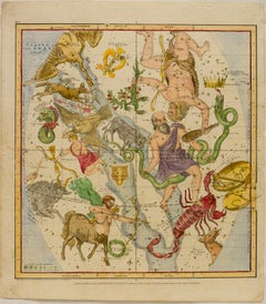 A Plan of the Solar System: The Constellations in September, August, July