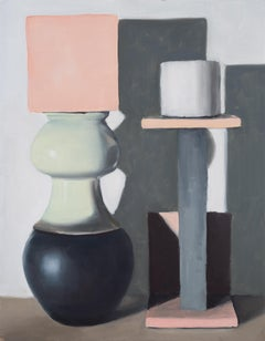 Jasper Hagenaar, Modernist stilleven #8, oil painting on canvas (still life)