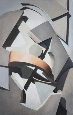 Jasper Hagenaar, Composition #3, oil on panel (figurative, abstract)
