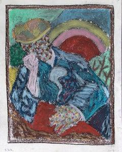 Bart Kok, Hello Vincent (3), 2019, 50 x 40 cm, oil pastels on paper (Van Gogh)