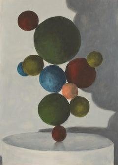 Jasper Hagenaar, Impossible sculpture 2 (painting, abstract, balls, light)