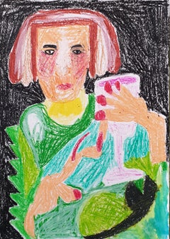 Tanja Ritterbex, How to make schwarma, 2020 (portrait, figurative, colorful)