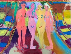 Tanja Ritterbex, Ladies and me standing at the beach in Curacao (painting)