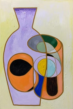 Marliz Frencken, Untitled (abstract oil painting, vases)