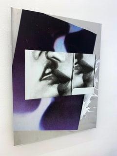 Hannah Perry,  Untitled (aluminium, collage, painting, screen print, kissing)
