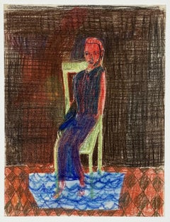 David Noro, Question XII doubt in the room (colored pencil drawing)