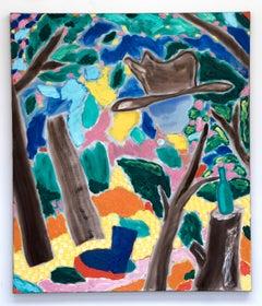 Bart Kok, Wild Wild Walk2, oil painting on canvas (nature, figurative, abstract)
