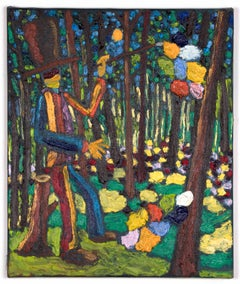 Bart Kok, Painterbation3 , oil painting on canvas (nature, figurative, abstract)