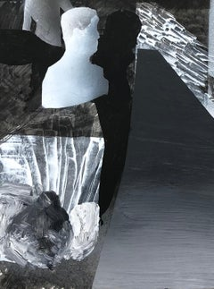 Julius Hofmann, Untitled (black and white landscape, work on paper)