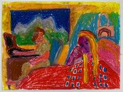 Tanja Ritterbex (drawing depicting a self-portrait in the train)