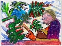 Tanja Ritterbex (a colorful self-portrait of the quarantaine)