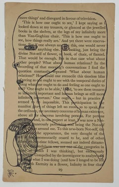 Isheanesu Dondo (Drawing of faces with a black marker on a book page)