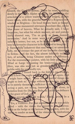Isheanesu Dondo (Drawing of faces and animals with black marker on a book page)
