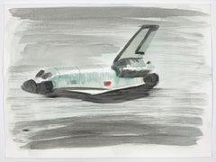 Jasper Hagenaar (Aquarel / watercolor of a American space shuttle, explorer)