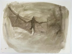 Jasper Hagenaar - drawing of bat in the darkness (corona)