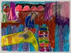Tanja Ritterbex (self-portrait reading in bed)