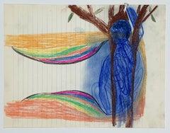 David Noro, Question XVII  (colored pencil drawing)